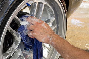 Auto Detailing on Tire